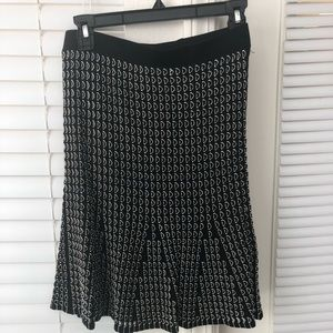 Black and white sweater pencil skirt